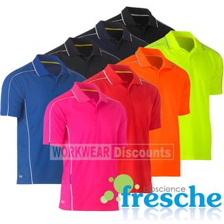 Bisley Bisley BK1425 Cool Mesh Polo Shirt with Reflective Piping Short Sleeve