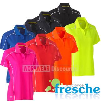 Bisley Bisley BKL1425 Ladies Cool Mesh Polo Shirt with Reflective Piping Short Sleeve
