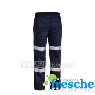 Bisley Bisley BP6003T Taped Cotton Drill Pants Single Pleat Front Double Hoop