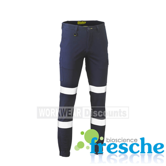 Bisley Bisley BPC6028T Taped Biomotion Stretch Cotton Drill Cargo Cuffed Pants