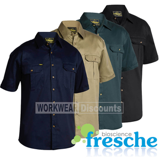Bisley Bisley BS1433 Cotton Drill Shirt Short Sleeve