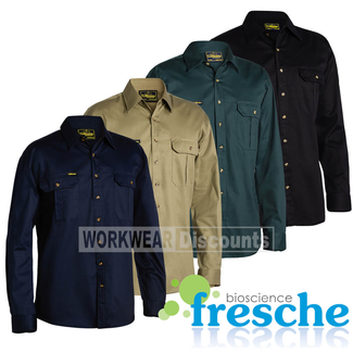 Bisley Bisley BS6433 Cotton Drill Shirt Long Sleeve