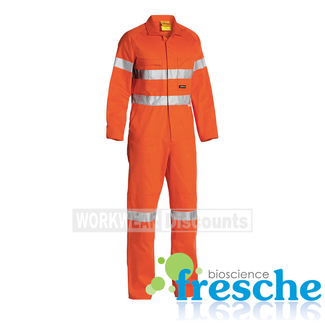 Bisley Bisley BC607T8 Hi-Vis Taped Cotton Drill Coverall