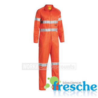 Bisley Bisley BC6718TW Hi-Vis Taped Lightweight Cotton Drill Coverall