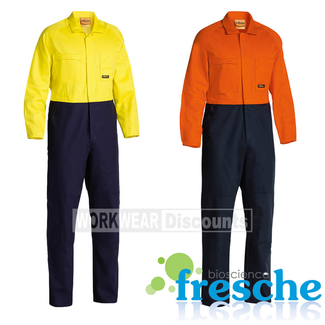 Bisley Bisley BC6357 Hi-Vis Cotton Drill Coverall