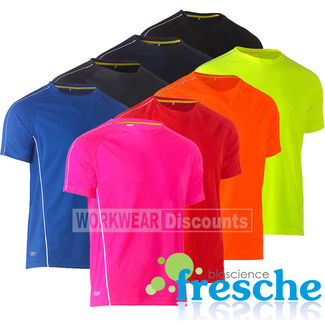 Bisley Bisley BK1426 Cool Mesh Tee Shirt with Reflective Piping Short Sleeve