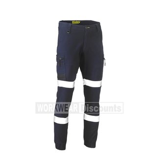 Bisley Bisley BPC6334T Taped Biomotion Flex & Move™ Stretch Cargo Cuffed Pants