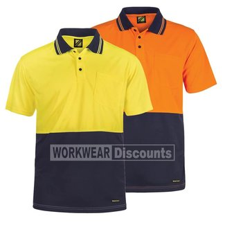 WorkCraft WorkCraft WSP201 Hi-Vis Micromesh Polo Short Sleeve