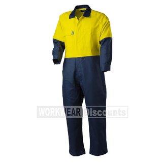 Tru Workwear TruWorkwear DC2180 Hi-Vis Cotton Drill Coverall