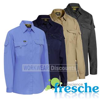 Bisley Bisley BL6414 Ladies Airflow™ Ripstop Vented Work Shirt Long Sleeve