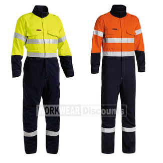 Bisley Bisley BC8086T TenCate Tecasafe Plus Two Tone Hi-Vis Taped Engineered Vented FR Coverall