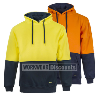 WorkCraft WorkCraft WT8002 Hi-Vis Brushed Back Fleece Hoodie