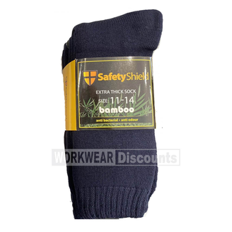 Judd's Workwear Safety Shield 3 Pack Extra Thick Bamboo Sock