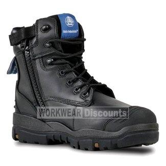 Bata Bata Longreach Scuff Cap Zip Side Lace Up Steel Cap Boots