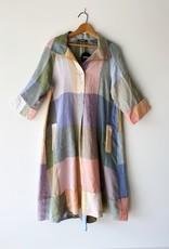 ALEMBIKA SD601P ALEMBIKA LINEN CHECK STRAIGHT DRESS