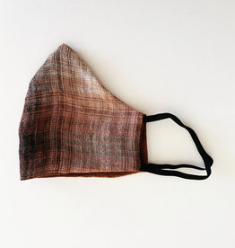 M SQUARE M SQUARE FACE MASK BROWN PLAID