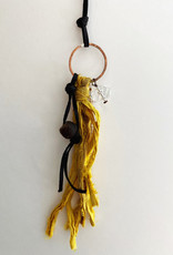 SEEDS SEEDS WISH NECKLACE ON BLACK LEATHER