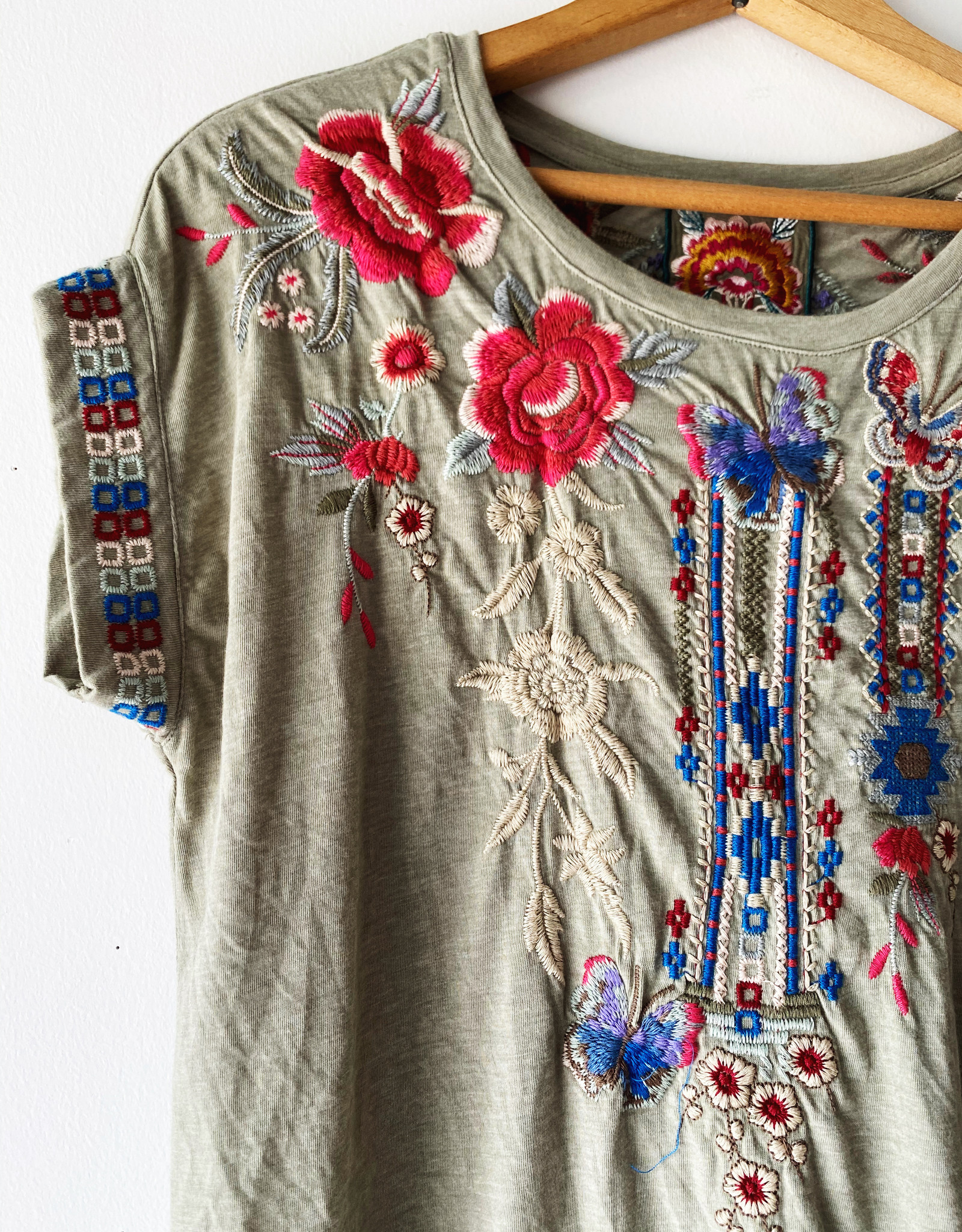 JOHNNY WAS J17120-4 JOHNNY WAS FLORENCE RELAXED TEE