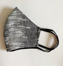 M SQUARE M SQUARE FACE MASK GREY AND WHITE LINES