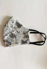 M SQUARE M SQUARE FACE MASK WHITE W/ BLACK CHECK