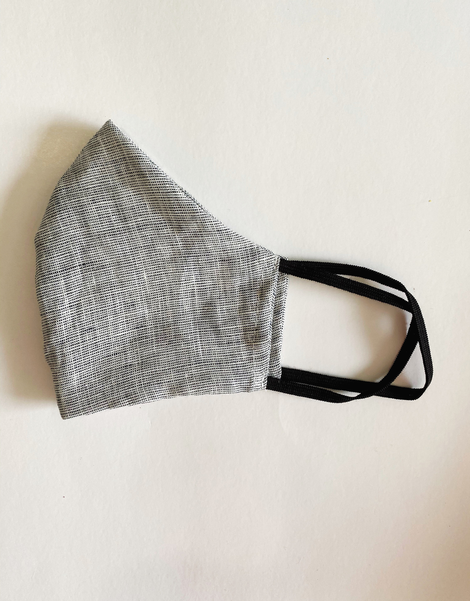 M SQUARE M SQUARE FACE MASK BLACK WHITE TWEED