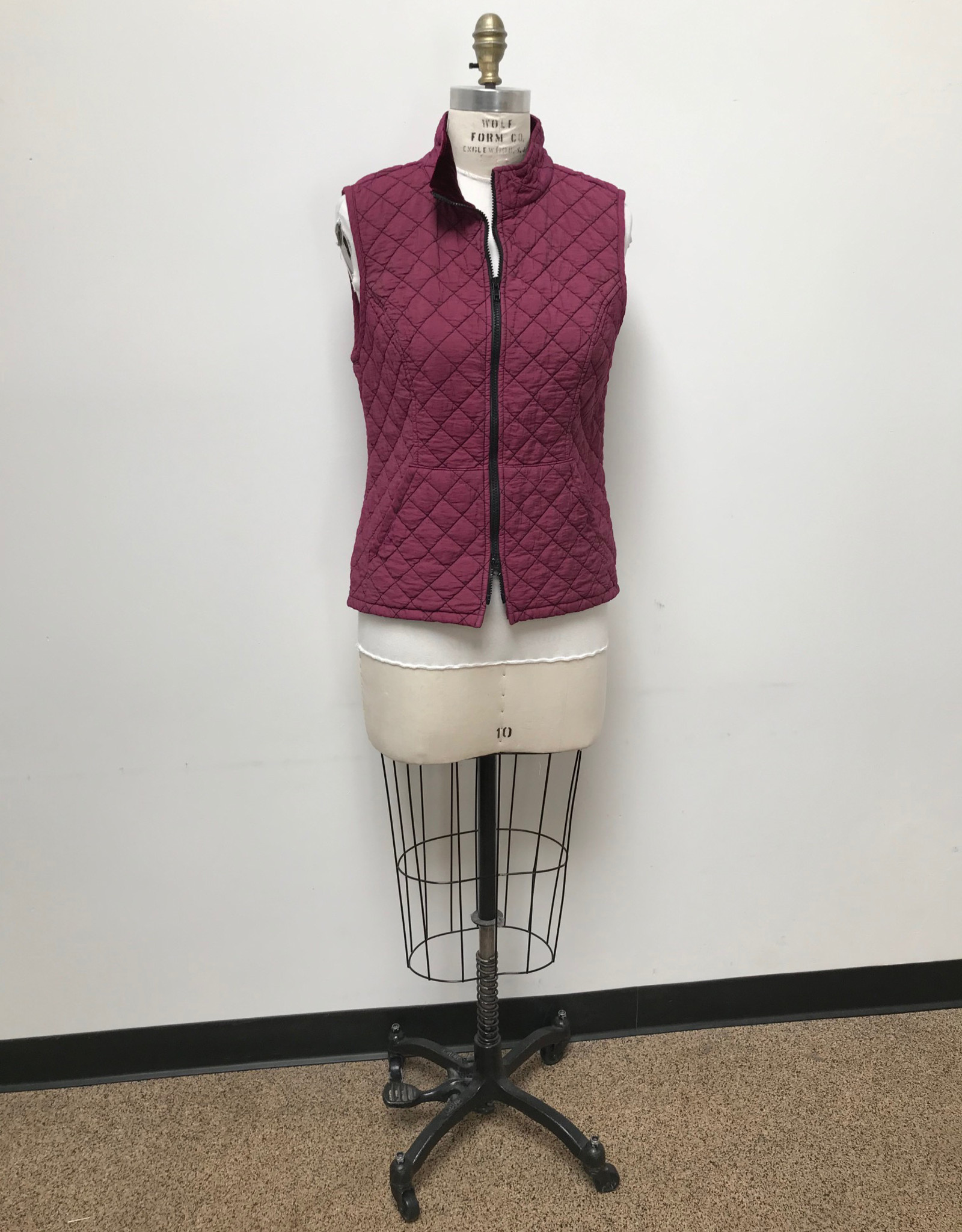 CUT LOOSE TRUNK SHOW 6595655 CUT LOOSE ZIP FRONT QUILTED VEST