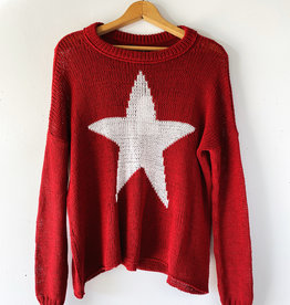 WOODEN SHIPS K45C2W161 WOODEN SHIPS STAR SLOUCHY CREW COTTON