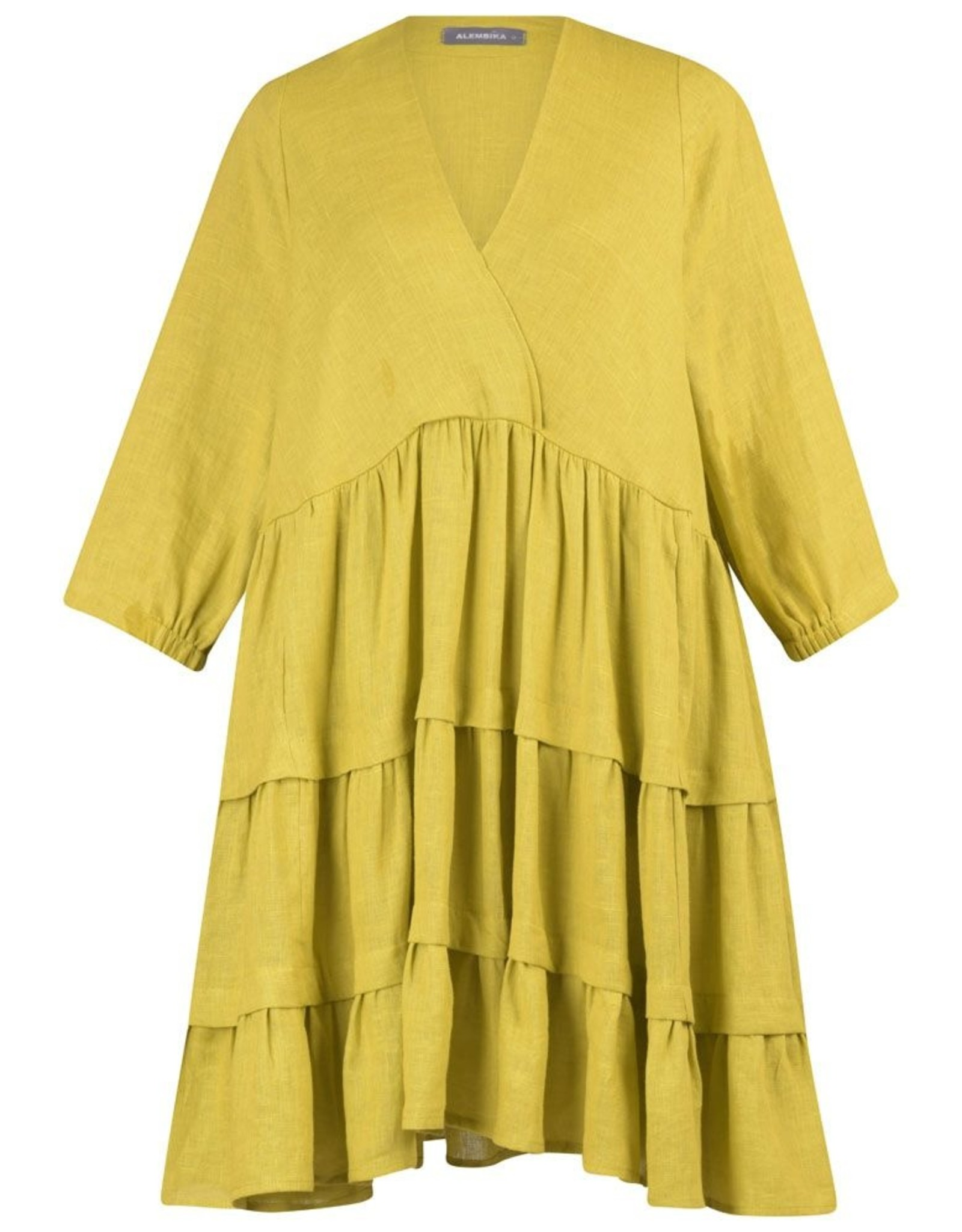 ALEMBIKA ALEMBIKA LINEN RUFFLE DRESS SD207Y