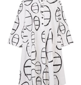 ALEMBIKA ALEMBIKA UD616C COTTON PRINT SHIRT DRESS