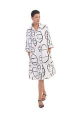 ALEMBIKA ALEMBIKA UD616C COTTON PRINT SHIRT DRESS
