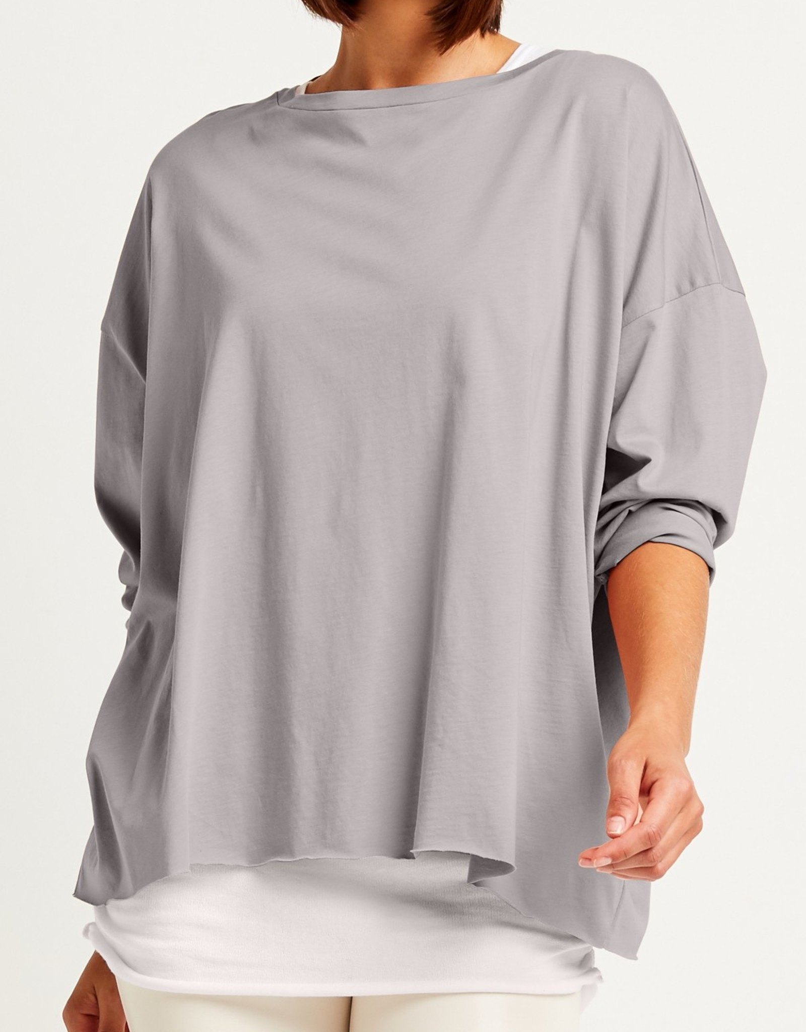 PLANET PLANET BOXY TEE 9791JST STEEL ONE SIZE