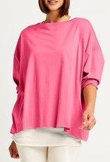 PLANET PLANET BOXY TEE 9791JSH SHOCKING PINK ONE SIZE