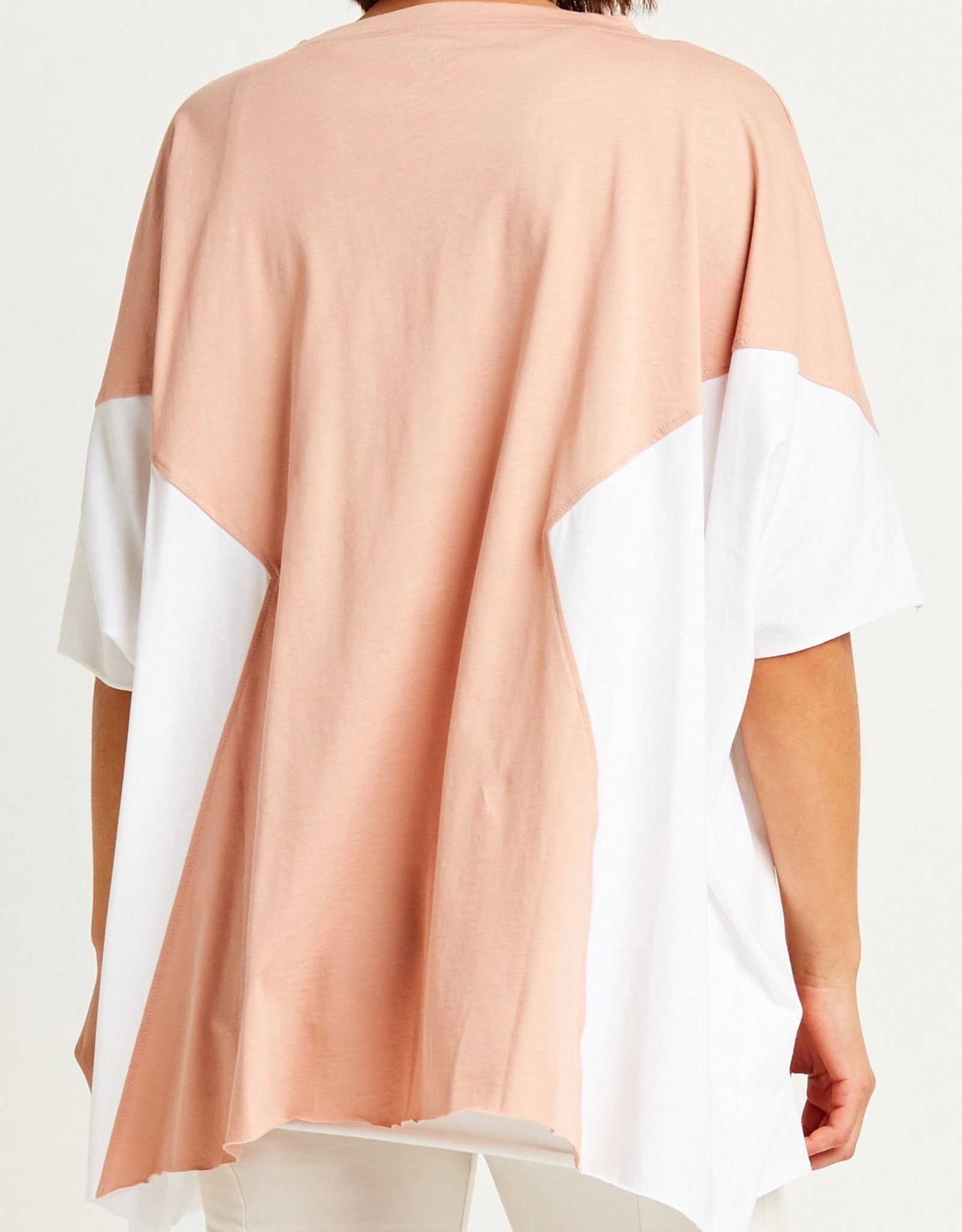 PLANET PLANET GEOM A TEE 652JS SALMON/WHITE ONE SIZE