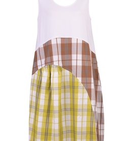 ALEMBIKA ALEMBIKA COTTON PLAID TANK DRESS SD202M