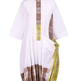 ALEMBIKA ALEMBIKA COTTON PLAID WONDERFUL DRESS SD200M