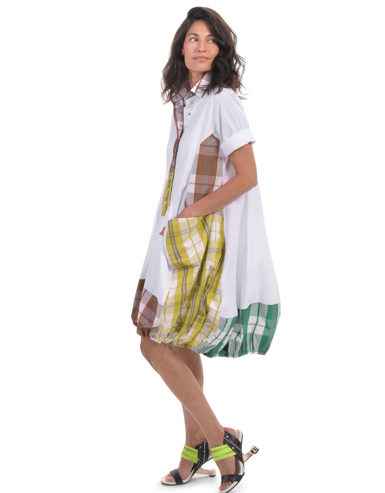 ALEMBIKA ALEMBIKA COTTON PLAID WONDERFUL DRESS SD200M