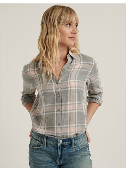 Lucky Brand Petunia Plaid Button Up