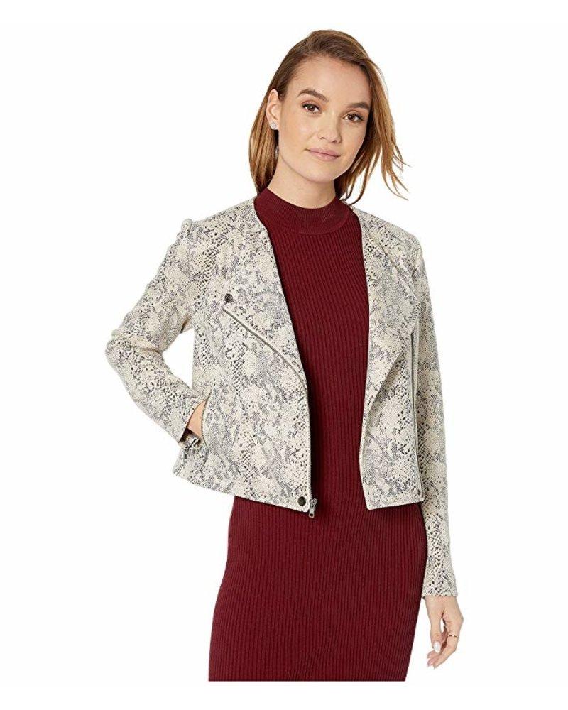 Isabell Latte Snakeskin Jacket