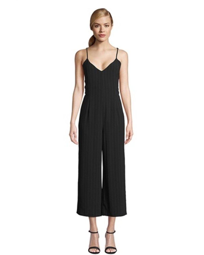 Lana Black Pinstripe Jumpsuit
