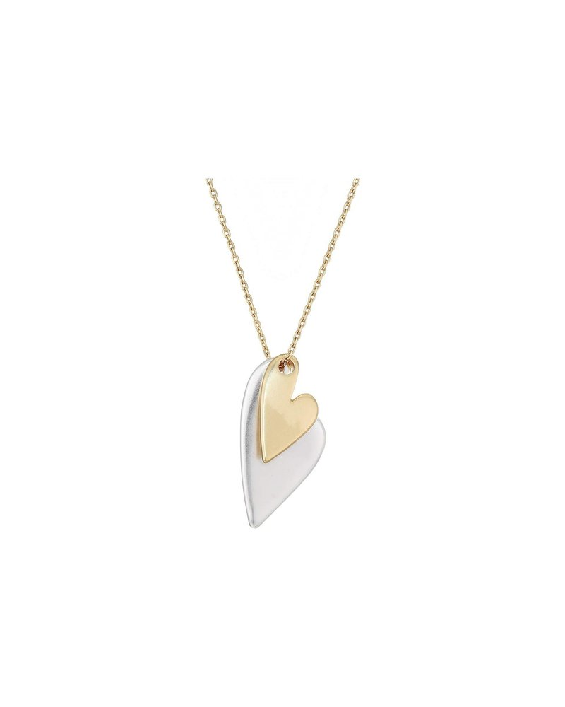 Lucky Brand Two Hearts Necklace