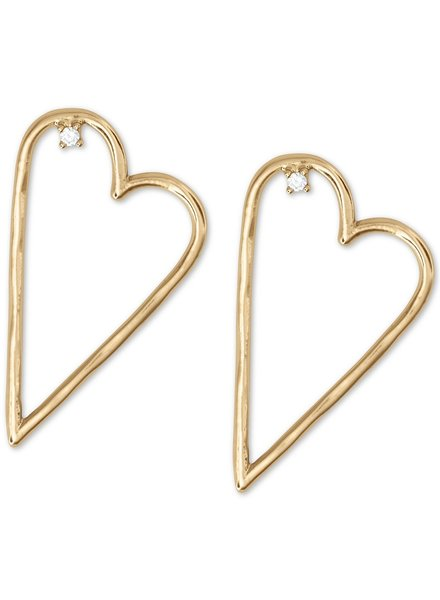 Lucky Brand Open Heart Earrings