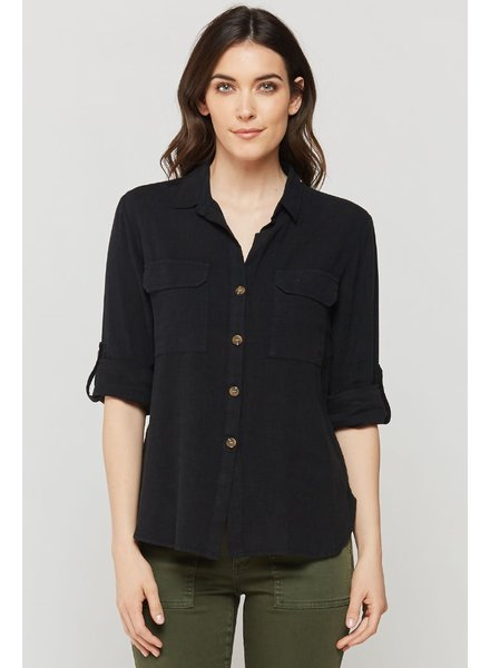 Genovia Roll Tab Button Down