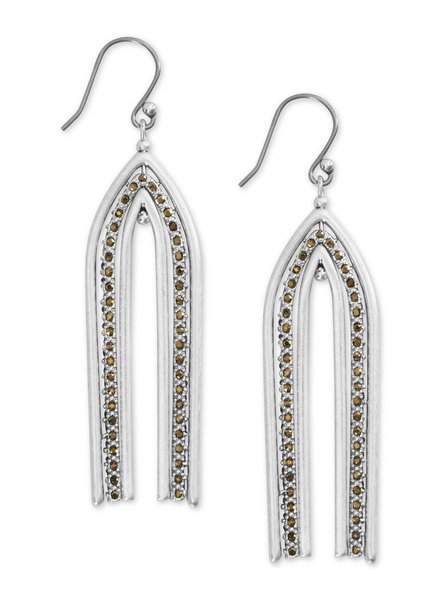 Lucky Brand Pave Arch Earrings