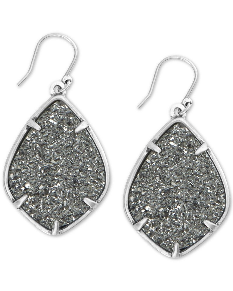 Lucky Brand Druzy Diamond Drop