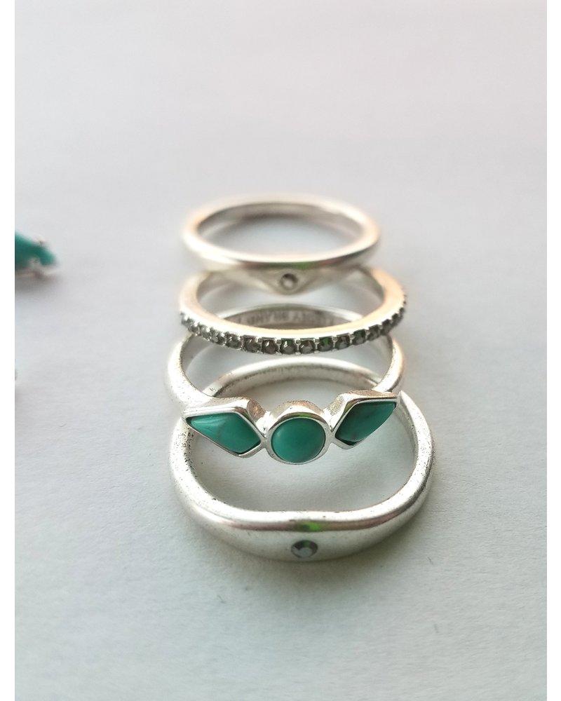 Lucky Brand Silver Ring & Earring Set