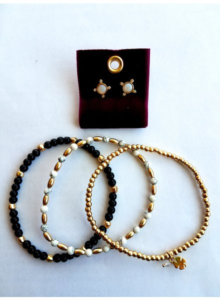 Lucky Brand Gold Bracelet & Earring Set