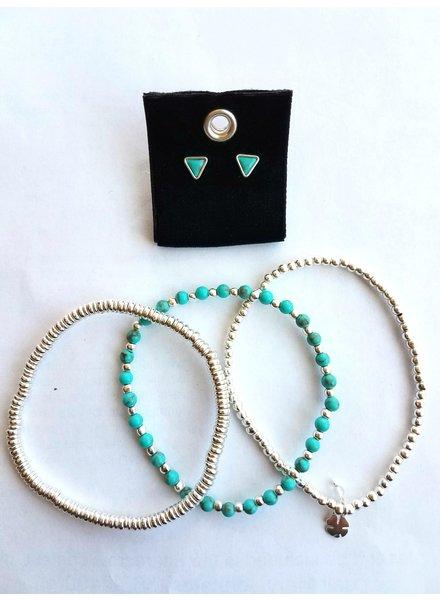 Lucky Brand Silver Bracelet & Earring Set