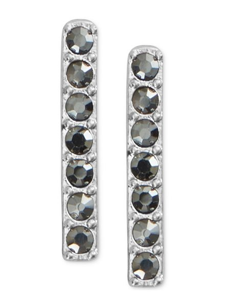 Lucky Brand Silver Pave Bar Stud