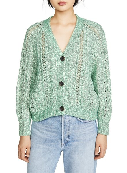 Athena Shamrock Sweater Cardigan
