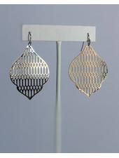 Metallic Lace Earrings